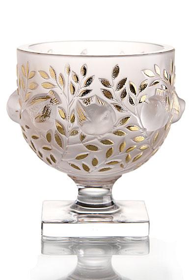 Lalique Gold Elisabeth Vase