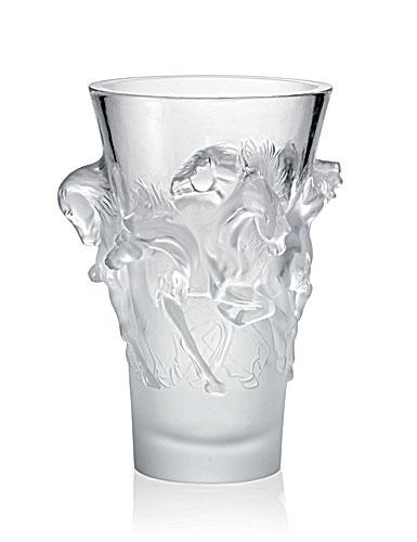 Lalique Equus Vase