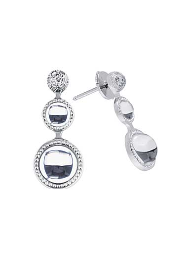 Lalique Crystal Petillante Earrings, Clear