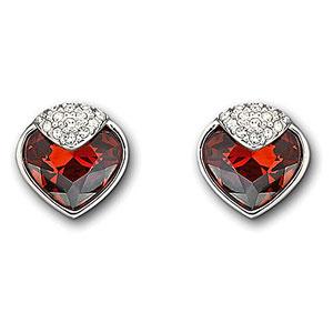 Swarovski Bordeaux Oceanic Pierced Earrings