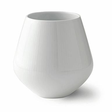 """Royal Copenhagen, White Fluted Vase 8"""""""