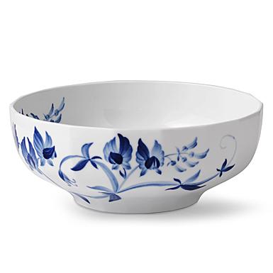 "Royal Copenhagen, Blomst Serving Bowl Sweetpea 8.75"""