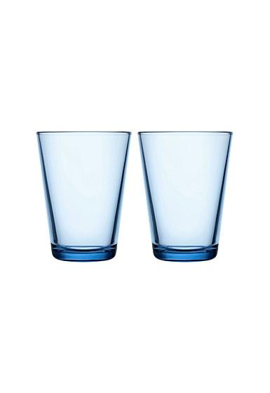 Iittala Kartio Tall Tumbler Aqua Pair