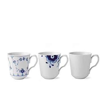Royal Copenhagen, Gifts With History Mugs 12.25oz. Set of Three
