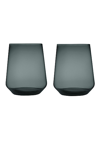 Iittala Essence Tumbler Pair Dark Grey