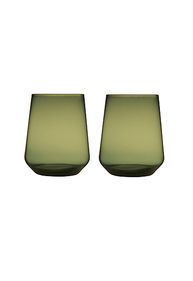 Iittala Essence Tumbler Pair Moss Green