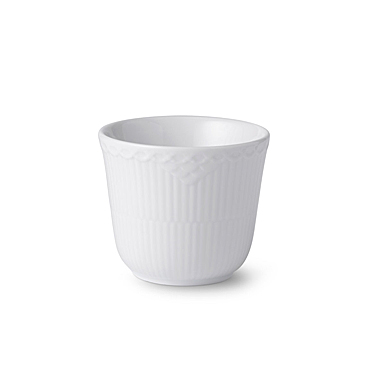 Royal Copenhagen, White Fluted Half Lace Thermal Cup 8.5oz.