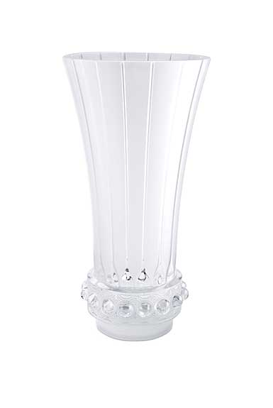Lalique Crystal, Byzance Lagune Tall Crystal Vase