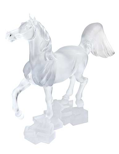 Lalique Crystal, Ourasi Horse Sculpture, Limited Edition