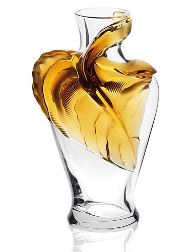 Lalique Tanega Amber Vase, Carafe, Limited Edition
