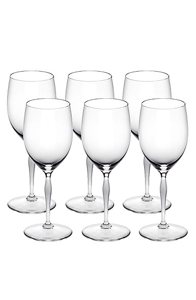 Lalique Crystal, 100 Points Water Crystal Glasses By James Suckling, Set of six