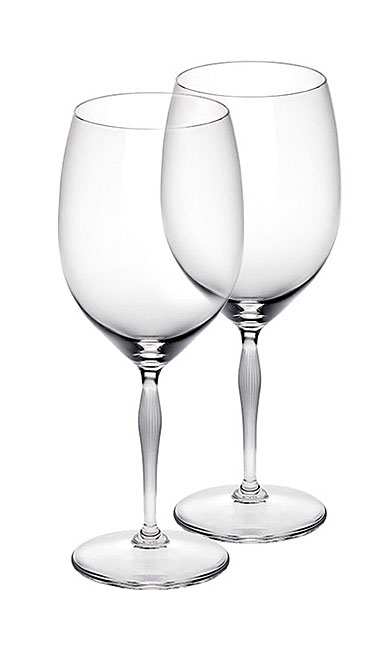Lalique 100 Points Bordeaux Crystal Glasses By James Suckling, Pair