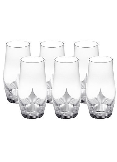 Lalique Crystal, 100 Points Longdrink Tumblers By James Suckling, Set of Six
