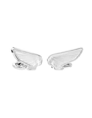 Lalique Victoire Mascottes Cufflinks Pair, Clear