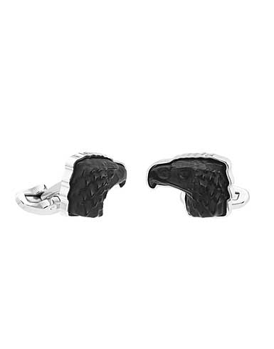 Lalique Eagle Mascottes Cufflinks, Black
