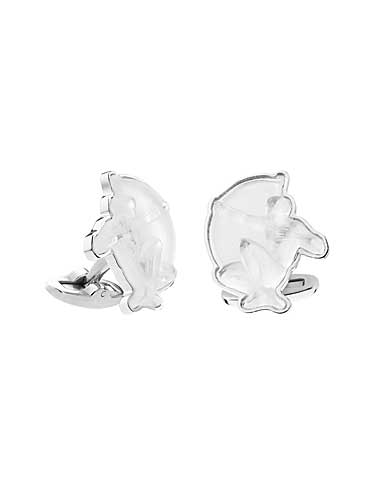 Lalique Archer Mascottes Cufflinks, Clear