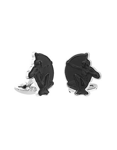 Lalique Archer Mascottes Cufflinks Pair, Black