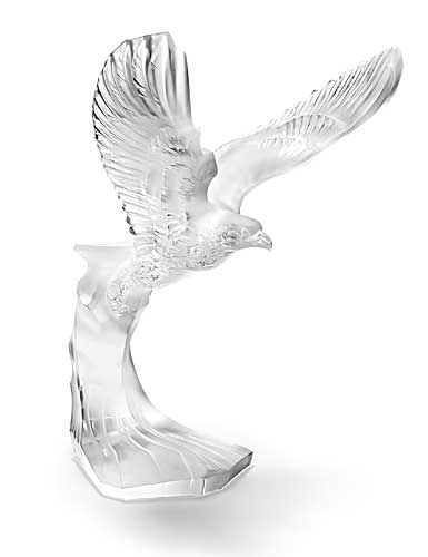 Lalique Crystal, Golden Eagle Sculpture