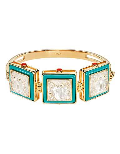 Lalique Crystal Arethuse Bracelet, Gold Vermeil