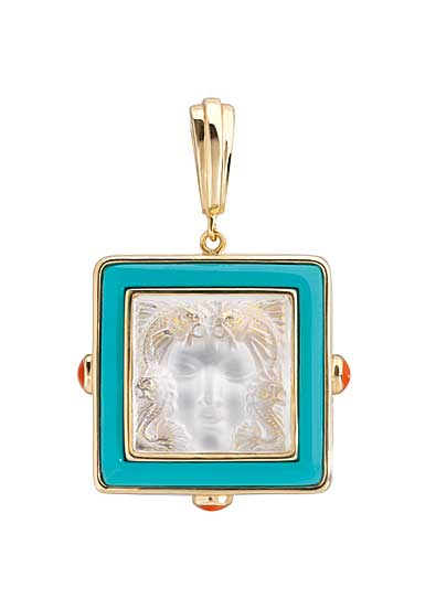 Lalique Crystal Arethuse Pendentif, Gold Vermeil