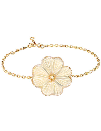 Lalique Pensee Lustre Bracelet, Vermeil