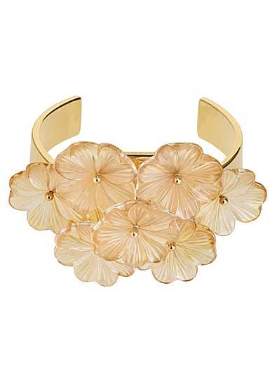 Lalique Pensee Lustre Cuff Bracelet, Gold Vermeil
