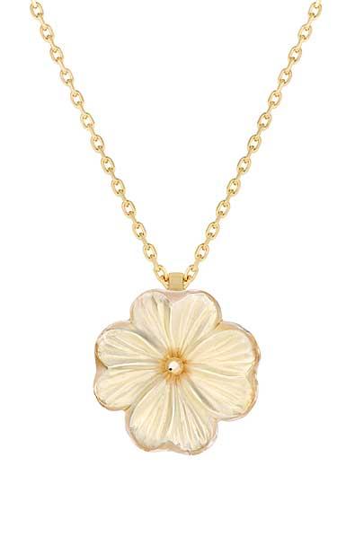 Lalique Pensee Lustre Pendant, Vermeil