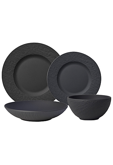 Villeroy and Boch Manufacture Rock 4 Piece Place Setting