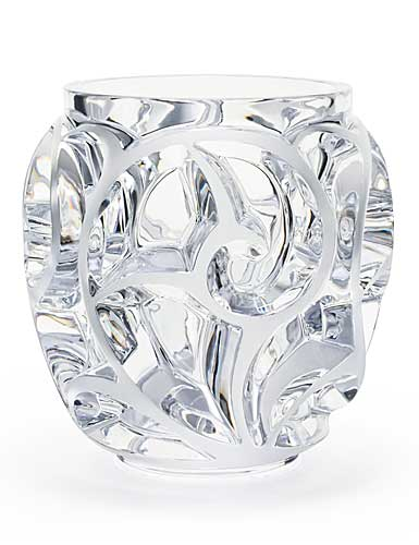 Lalique Crystal, Tourbillons XXL Crystal Vase, Clear