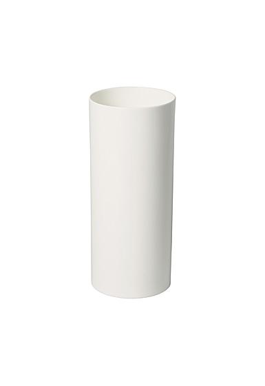 "Villeroy and Boch MetroChic Blanc Tall Vase 12"""