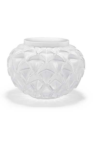 Lalique Crystal, Languedoc Small Crystal Vase, Clear