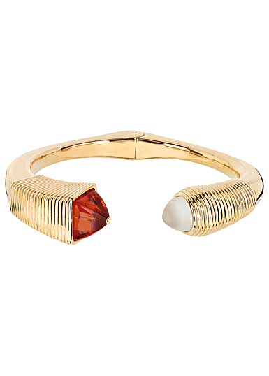 Lalique Charmante Bracelet, Ambre and Vermeil
