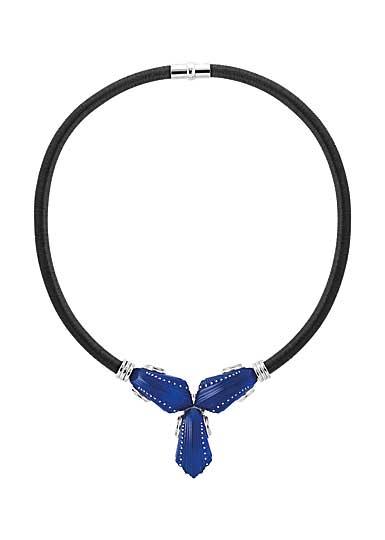Lalique Icone Colier, Ferrat Blue