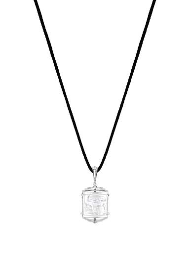 Lalique Crystal Nysa Pendant Necklace, Clear
