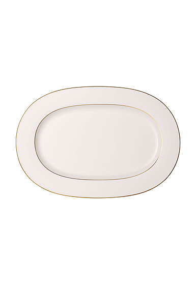 """Villeroy and Boch Anmut Gold Oval Platter 16"""""""