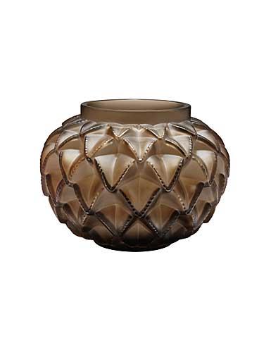"Lalique Languedoc 4.75"" Vase, Bronze"