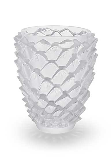 """Lalique Agave 11 7/8"""" Vase, Clear"""