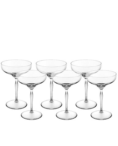 Lalique 100 Points Saucer Champagne Coupe By James Suckling, Set of 6