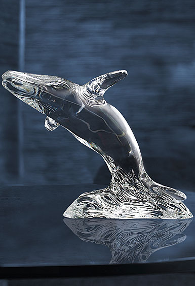 Waterford Humpback Whale Sculpture Paperweight