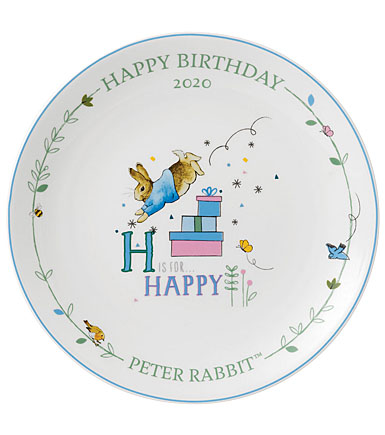 Wedgwood China Peter Rabbit 2020 Annual Birthday Plate