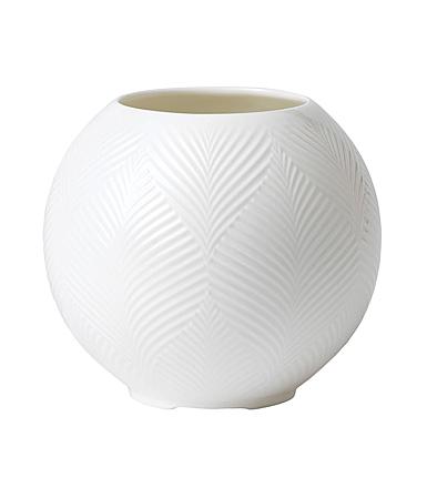 Wedgwood White Folia Lithophane Vase Small