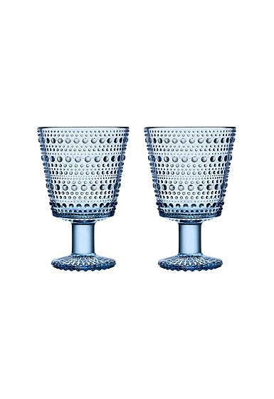 Iittala Kastehelmi Universal Glass Aqua Pair
