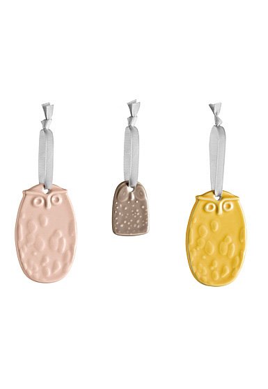 Iittala Birds, Owl Ornaments Set of Three