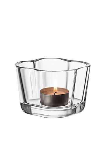 """Iittala Aalto Tealight Candleholder 2.25"""" Clear"""