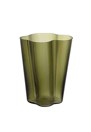 "Iittala Aalto Vase 10.5"" Moss Green"