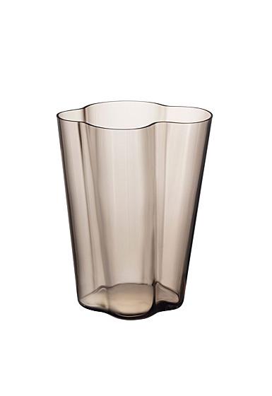 """Iittala Aalto Vase 10.5"""" Linen"""