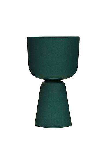 "Iittala Nappula Plant Pot 10.25"" Dark Green"
