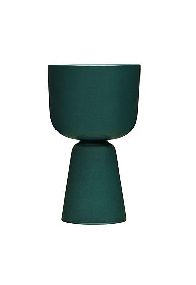"Iittala Nappula Plant Pot 10.25"" Dark Green"