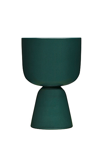 "Iittala Nappula Plant Pot 9x6"" Dark Green"