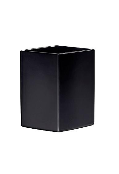 """Iittala Ruutu Ceramic Vase 9"""" Black"""